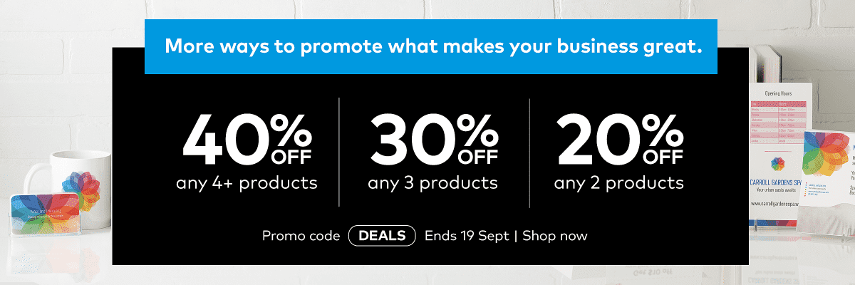 Mix and Match: save 40% when you buy 4 or more products. Promo code DEALS