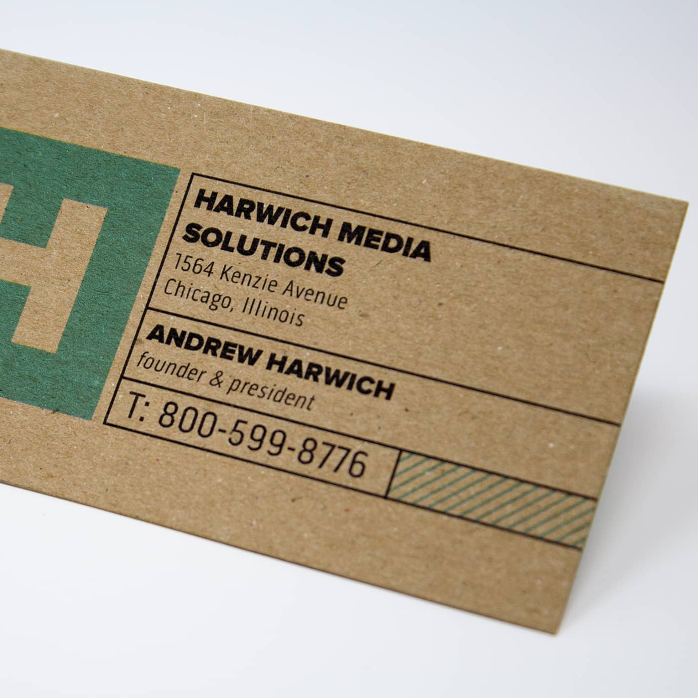 Kraft paper business cards eco friendly cards vistaprint