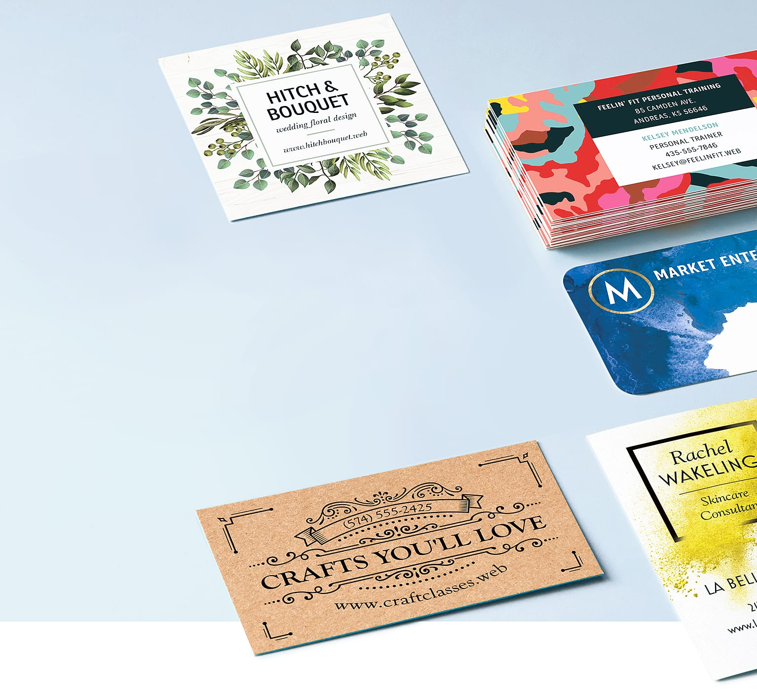multiple business cards