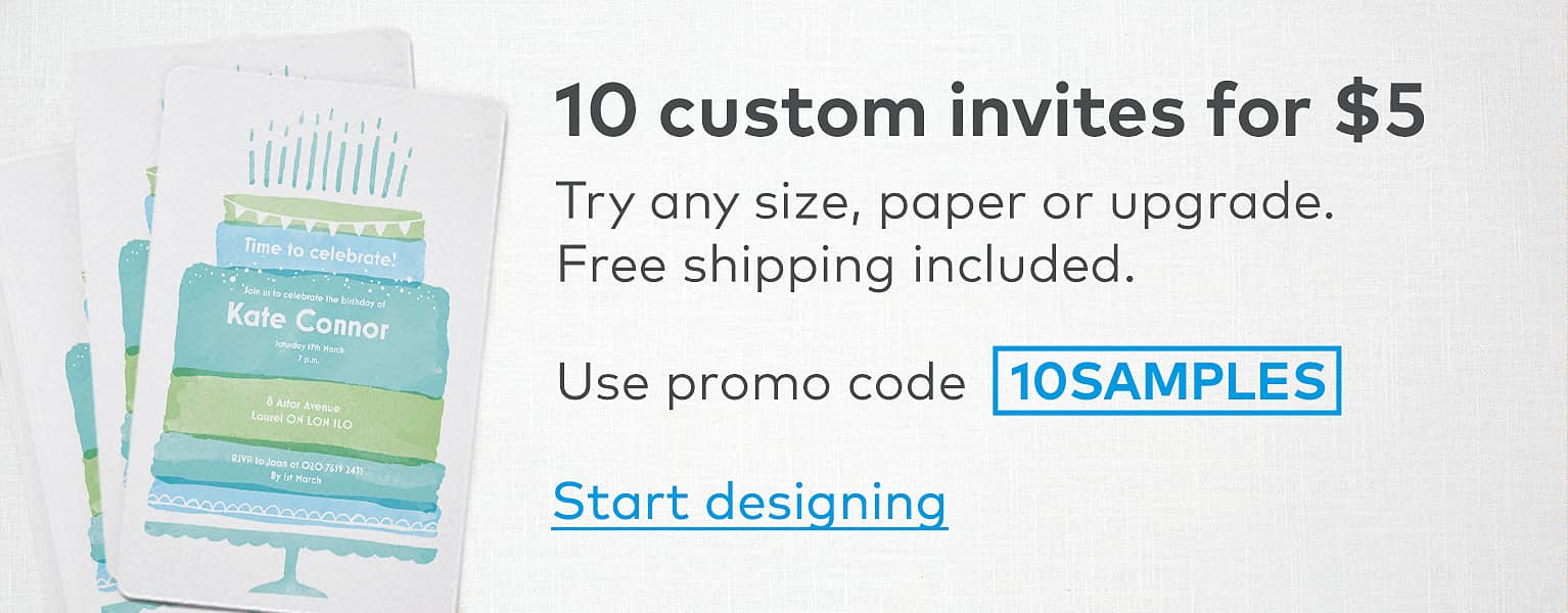 10 custom invites for $5