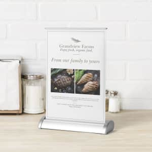 Table top retractable banners