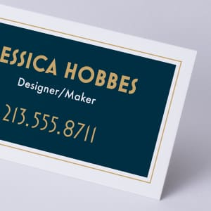 custom uncoated business card