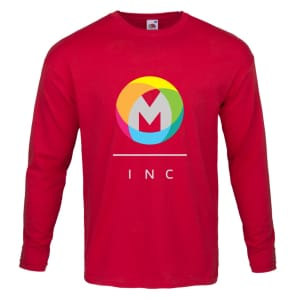 Fruit of the Loom® 100 cotton men's long-sleeve T-shirts