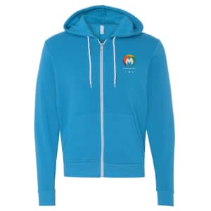 Bella Canvas Unisex Full-Zip Hooded Sweatshirt
