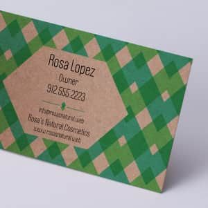 custom Kraft Business Cards
