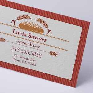 custom natural textured business card
