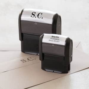 custom self-inking stamps with Vistaprint
