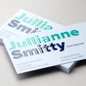 custom spot gloss business card