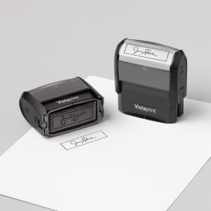 custom signature stamps with Vistaprint