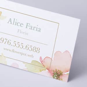 custom Pearl Business Cards