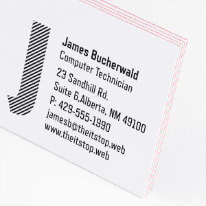 custom Color Fill Business Cards