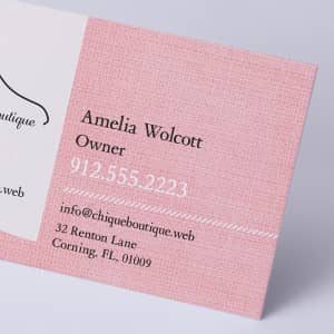 custom Linen Business Cards