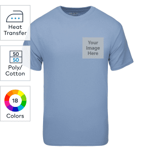 Gildan® DryBlend heat transfer 50/50 short sleeve T-shirts
