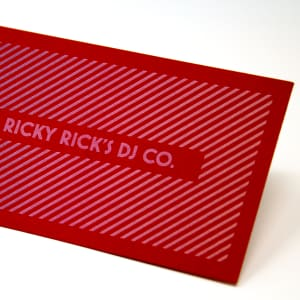 Colored paper business cards