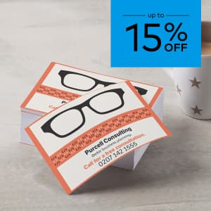 Up to 15% off flyers. Promo code WEMEANBIZ