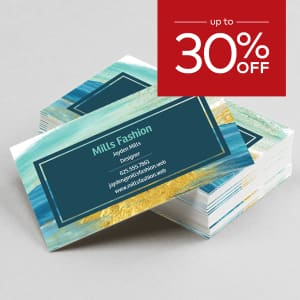up to 30% off business cards.