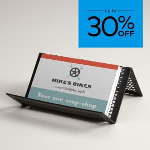 Up to 30% off business cards. Promo code WEMEANBIZ