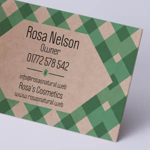 custom kraft business card