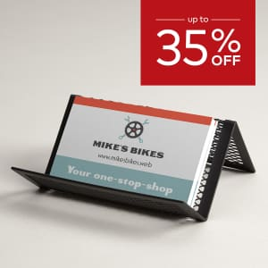 up to 35% off business cards.