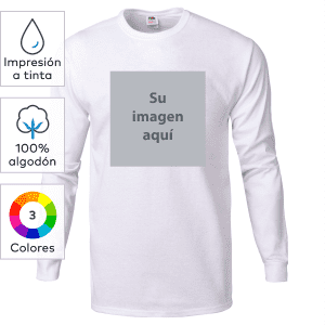 Camisetas de manga larga HD™ de algodón pesado de Fruit of the Loom® con impresión a tinta