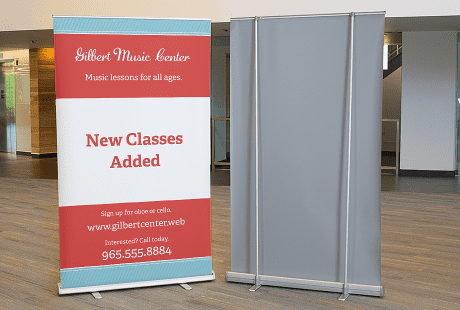 Corner Exhibition Stands Yard : Retractable banners retractable signs banner stands vistaprint
