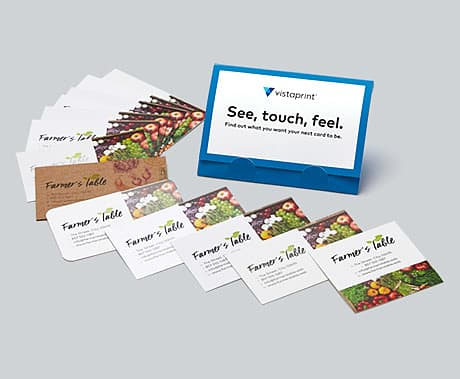 Free business card samples from Vistaprint