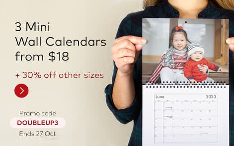 Limited time offer on Wall Calendars. Promo code DOUBLEUP3.