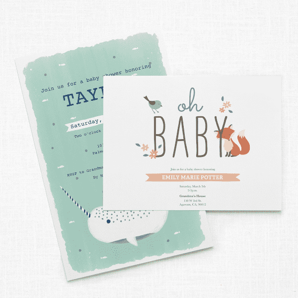 ec2dcdd56d9cd Baby Shower Invitations, Birth Announcements | Vistaprint