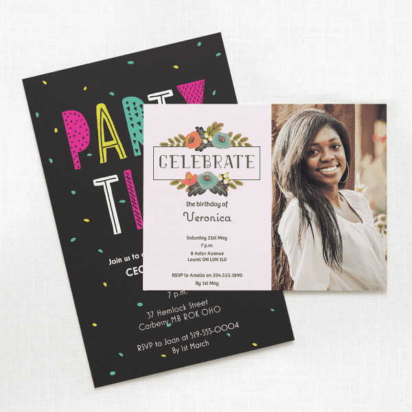 2627f1c24 Custom Birthday Invitations, Personalized Party Favors | Vistaprint