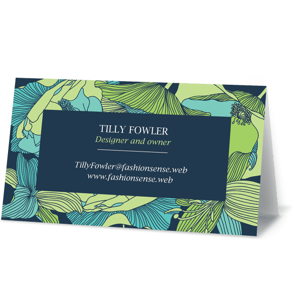 Custom folded business card