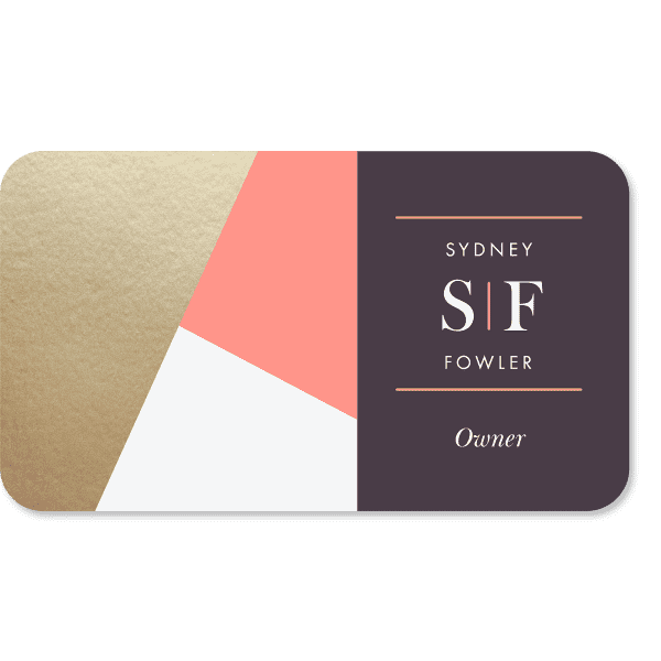 Custom rounded corner Business Card