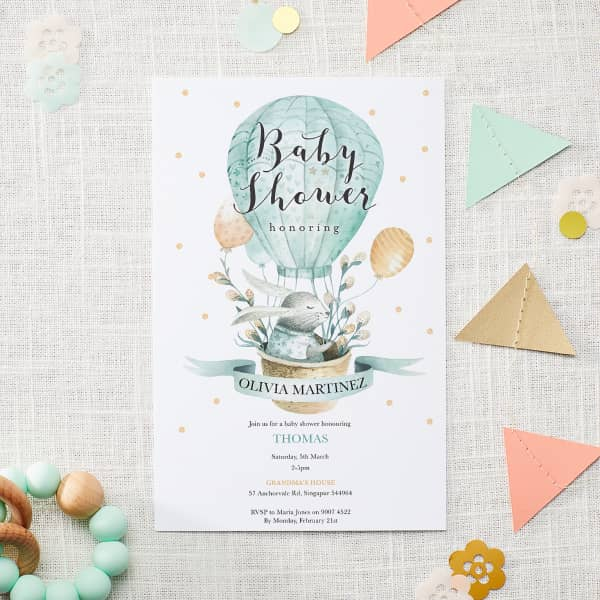 Custom New Baby Invitations with Vistaprint