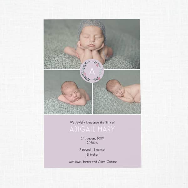 Custom Birth Announcements with Vistaprint