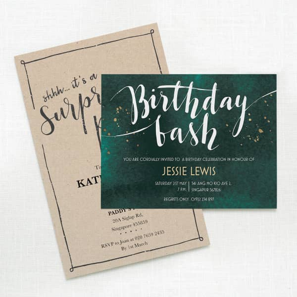 Custom birthday invitations