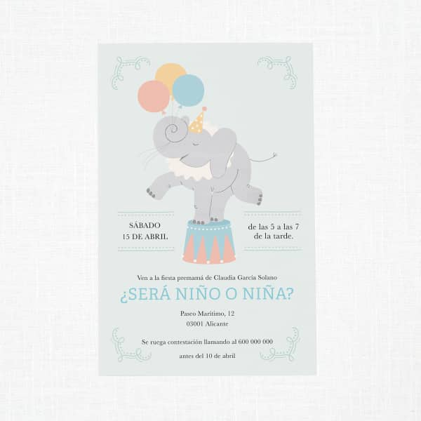 Personaliza invitaciones para baby shower con Vistaprint