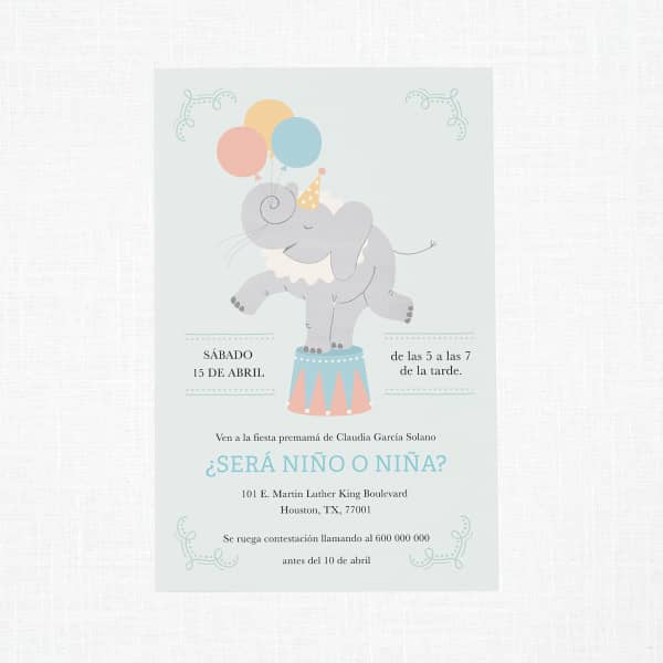 Personalice invitaciones para baby shower con Vistaprint