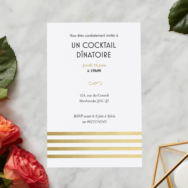 Invitations de fête avec Vistaprint