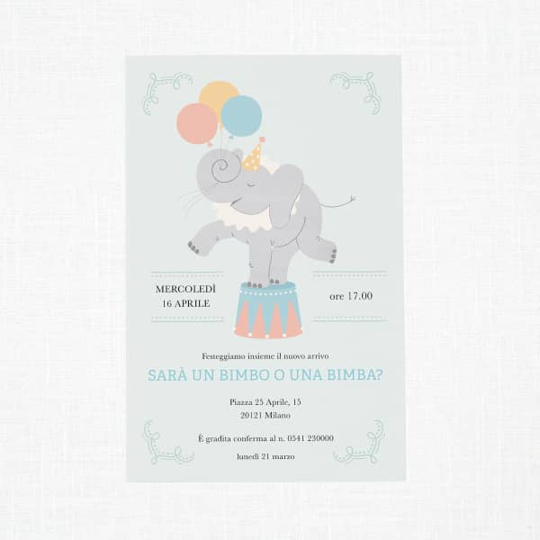 Inviti per baby shower personalizzati su Vistaprint