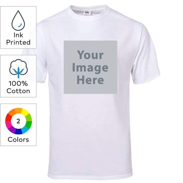Custom Fruit Of The Loom Ink Printed 5Ounce Heavy Cotton HD Youth