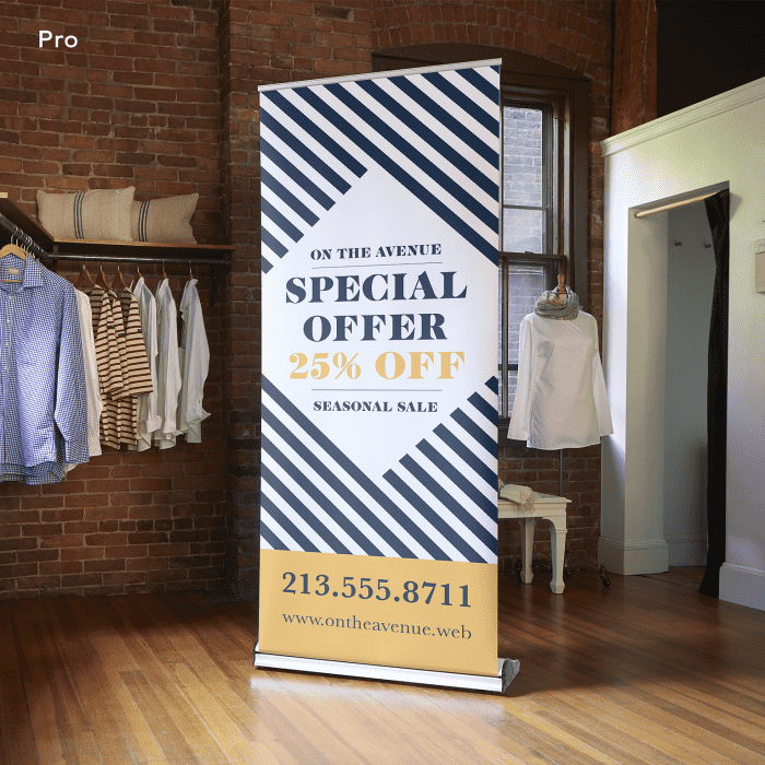 Corner Exhibition Stands Price : Retractable banners retractable signs banner stands vistaprint