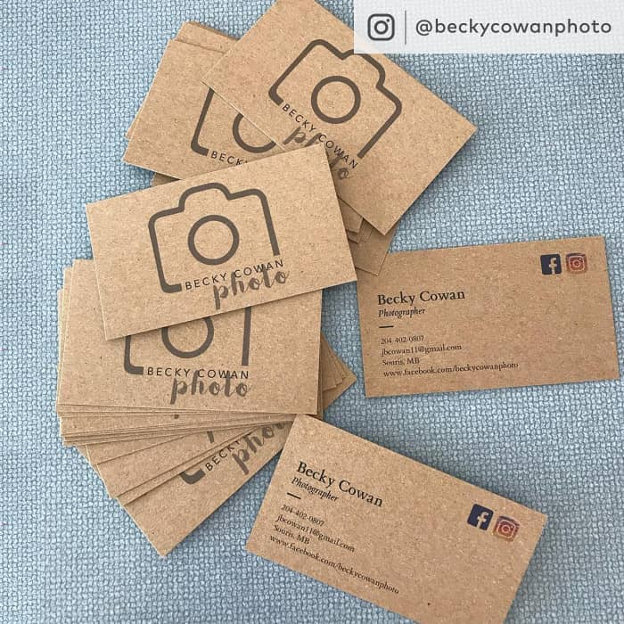 Kraft Paper Business Cards, Eco-friendly Cards