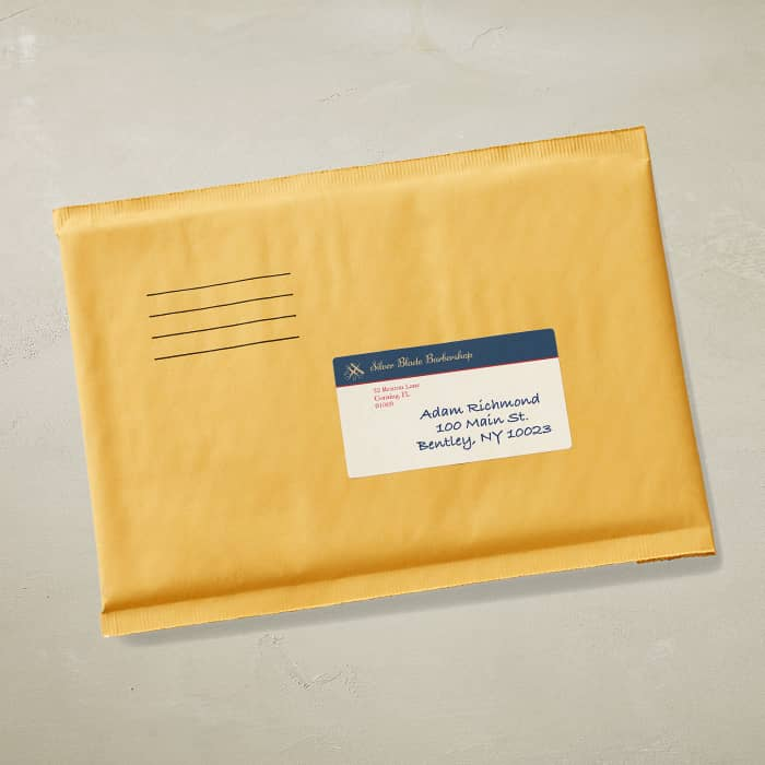 custom mailing label
