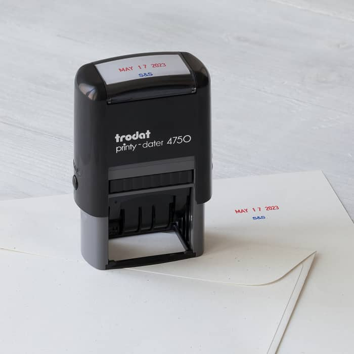 "Self-Inking Dater Stamp - 1.63"" x 1"""