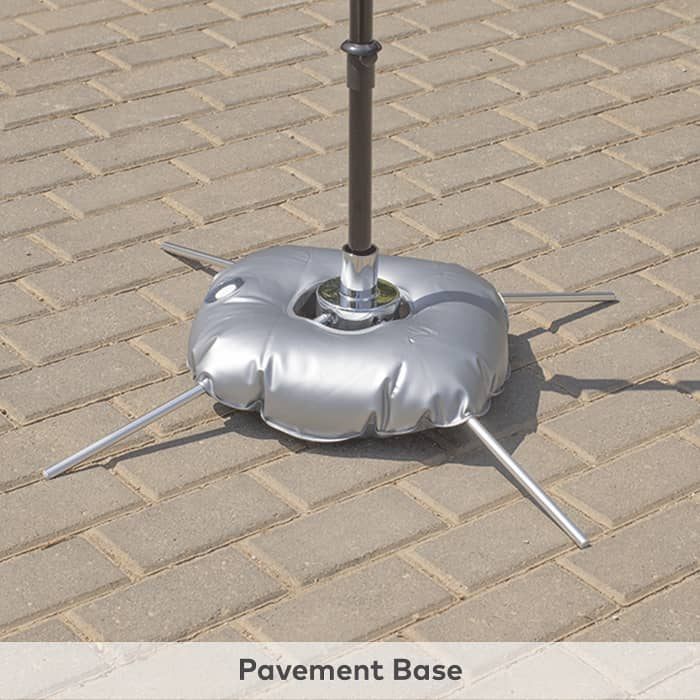 Pavement base for flags