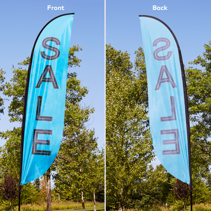 Custom feather flags