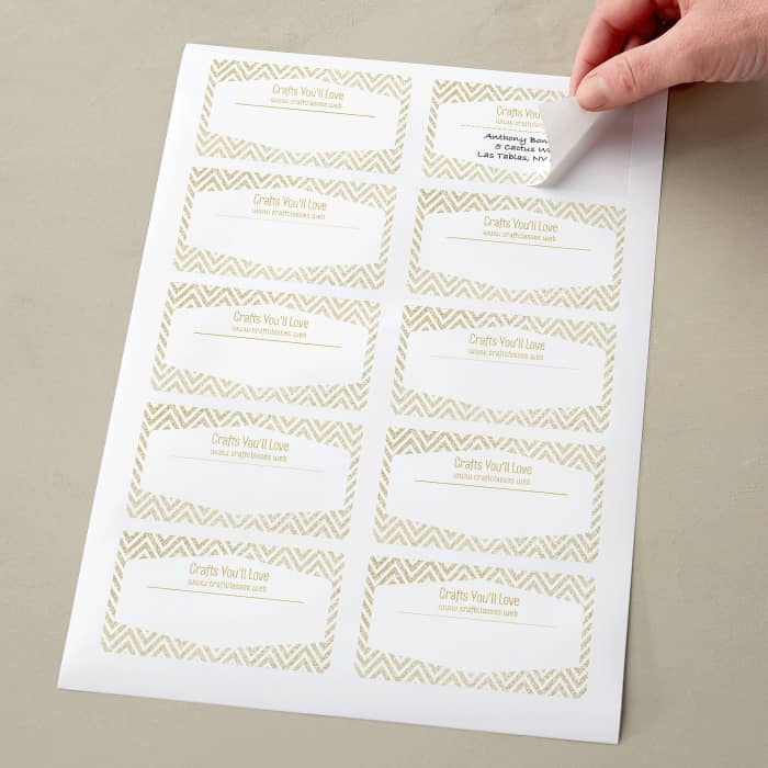 custom sheet of mailing labels