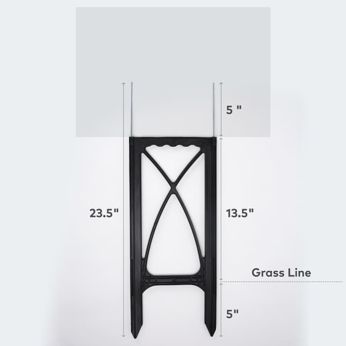 Custom yard sign dimensions