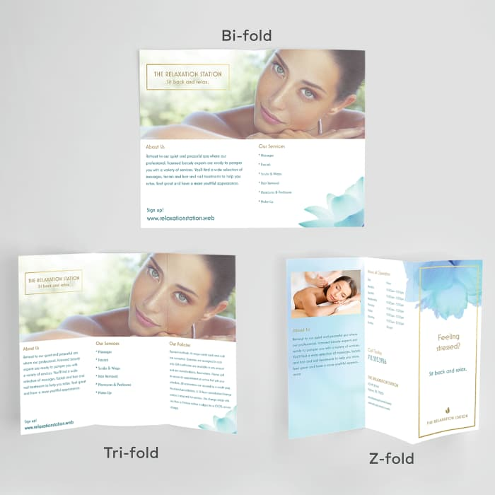 custom open brochures at Vistaprint