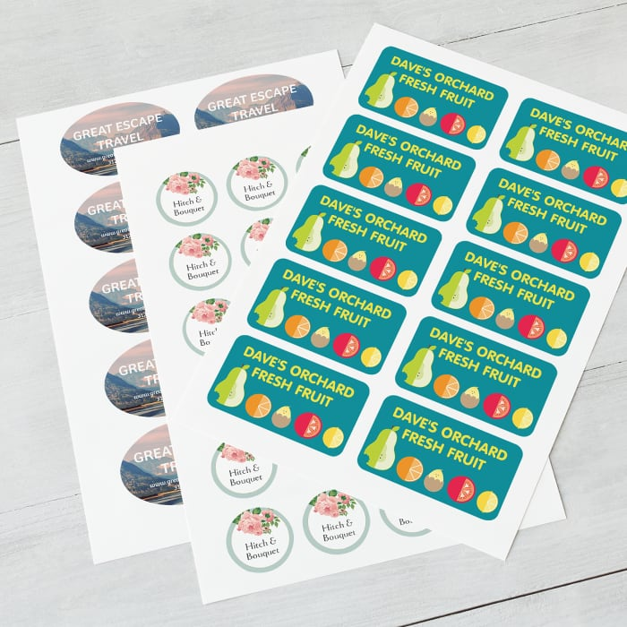 custom sheet stickers at Vistaprint