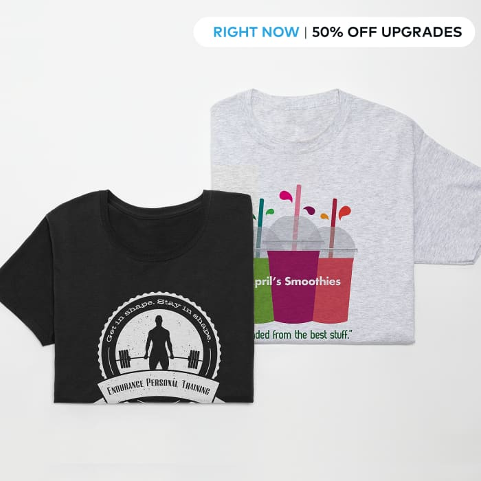 50% off T-shirts upgrades. Promo code UPGRADE. Valid until July 30 2019.